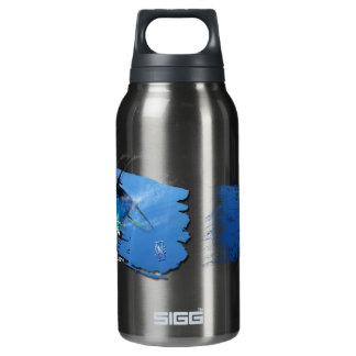 Yellow fin tuna water bottle. insulated water bottle