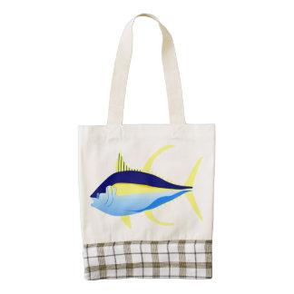 Yellow-fin Tuna Zazzle HEART Tote Bag