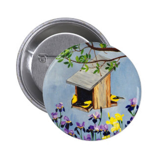 Yellow Finch Button