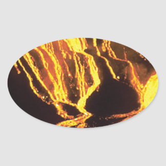 yellow finger melts oval sticker