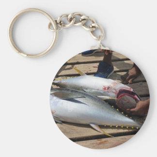 yellow fins tuna keychain