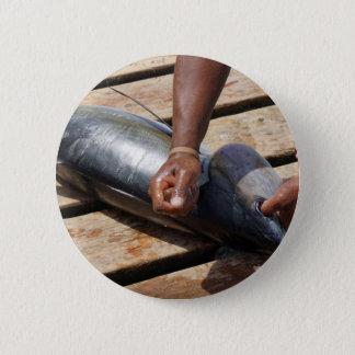 yellow fins tuna pinback button