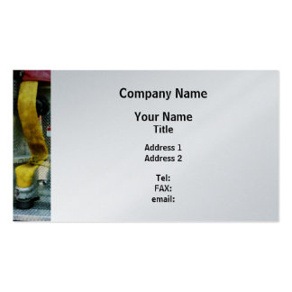 Yellow Fire Hose  - Platinum Finish Business Cards