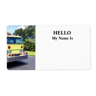 Yellow Fire Truck Label