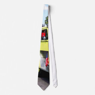 Yellow Fire Truck Neck Tie
