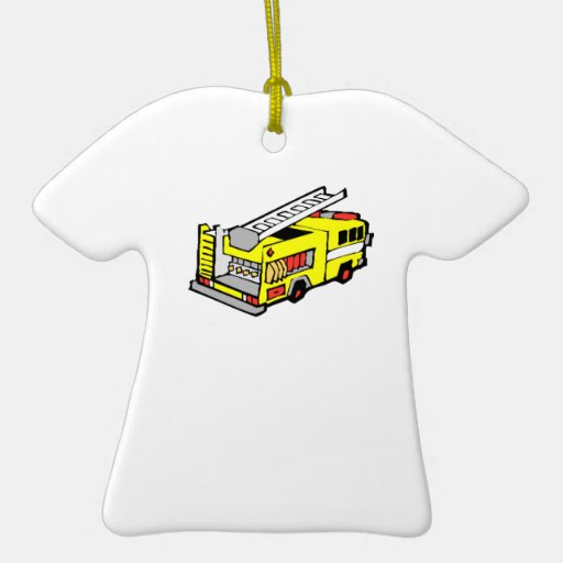 Yellow Fire Truck Ornament