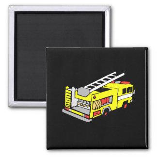 Yellow Fire Truck Refrigerator Magnet