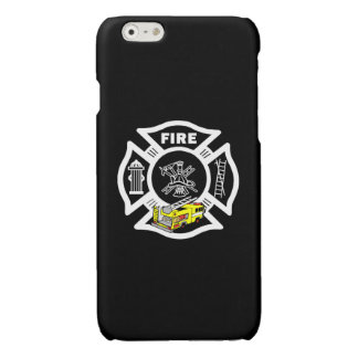 Yellow Fire Truck Rescue Glossy iPhone 6 Case