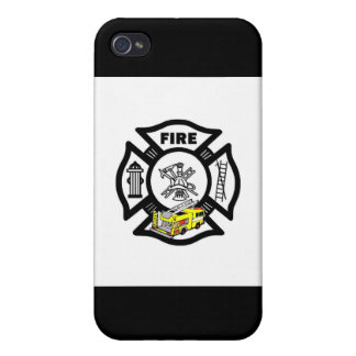 Yellow Fire Truck Rescue iPhone 4 Case