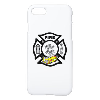 Yellow Fire Truck Rescue iPhone 8/7 Case