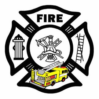 Yellow Fire Truck Rescue Statuette