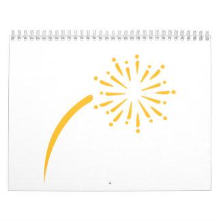 Yellow fireworks calendar