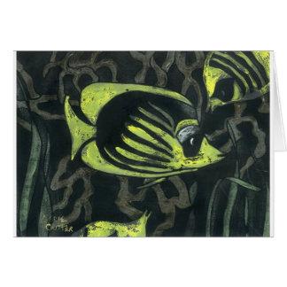 Yellow Fish Card