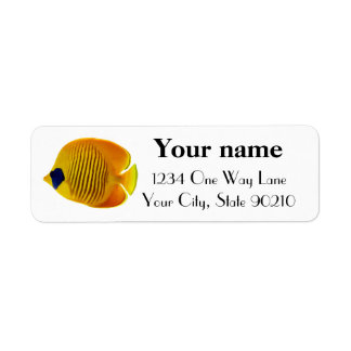 Yellow Fish Custom Return Address Labels
