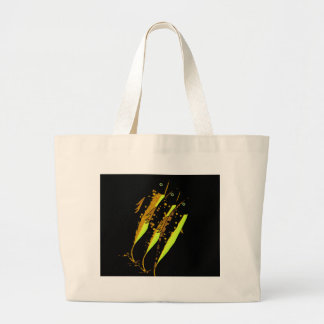 Yellow fish large tote bag