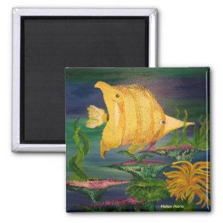 Yellow Fish Magnet