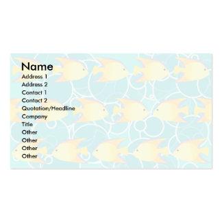 Yellow fish pattern business card