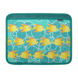 Yellow fish pattern sleeve for MacBook air