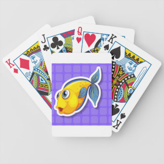 Yellow fish bicycle playing cards