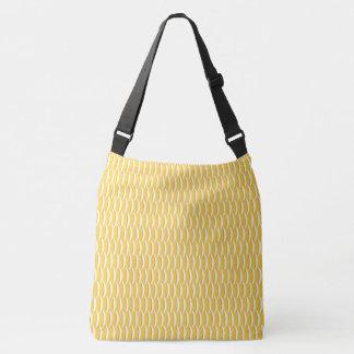 Yellow Fish Scales Crossbody Bag