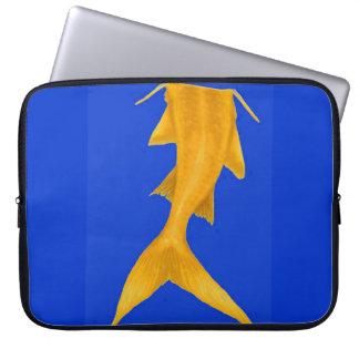 YELLOW FISH TAIL COMPUTER SLEEVES