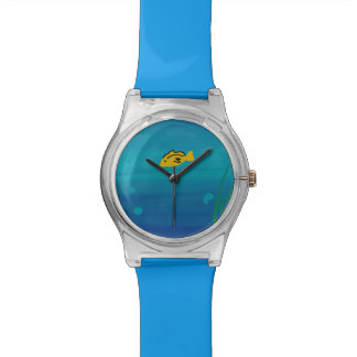yellow fish wristwatch