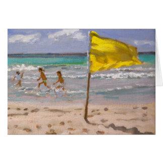 Yellow Flag Barbados 2010 Card