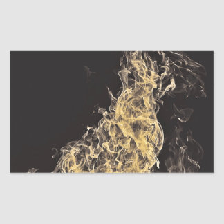 Yellow Flame Rectangular Sticker