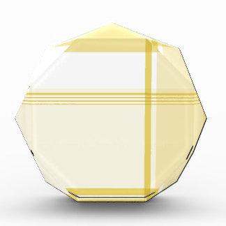 Yellow Flannel Pattern Acrylic Award
