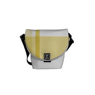 Yellow Flannel Pattern Messenger Bag
