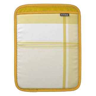 Yellow Flannel Pattern Sleeve For iPads
