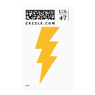 Yellow Flash Lightning Bolt Postage