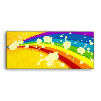 Yellow Flashy Rainbow Set Envelope
