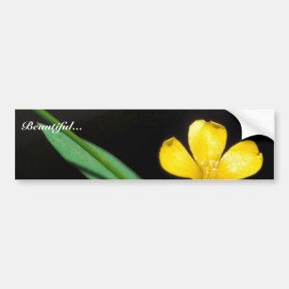 Yellow Flax Bumper Sticker