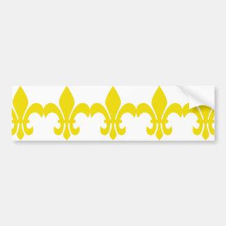 Yellow Fleur de Lis Bumper Sticker