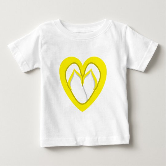 Yellow flip flops design baby T-Shirt