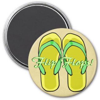 Yellow Flipflops Magnet