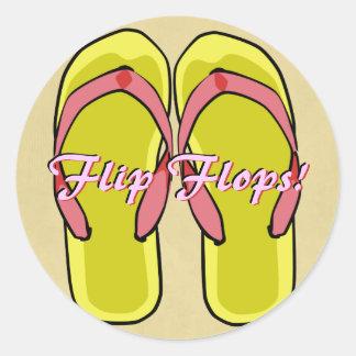 Yellow Flipflops Sticker