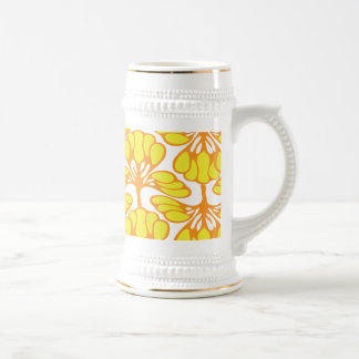 yellow flora beer stein