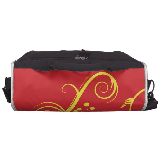 Yellow floral and swirls commuter bag