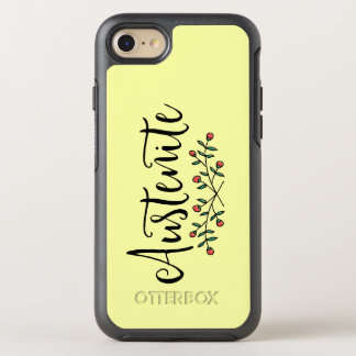 Yellow Floral Austenite OtterBox Symmetry iPhone 7 Case