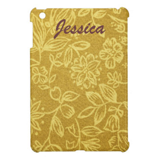 Yellow Floral Background iPad Mini Cover