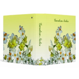 Yellow Floral Binders
