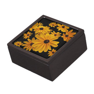 Yellow Floral Black Eyed Susan Flowers Gift Box