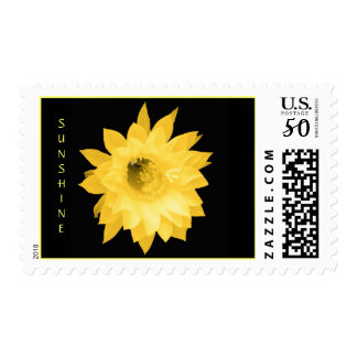 YELLOW FLORAL BLOOM POSTAGE STAMP