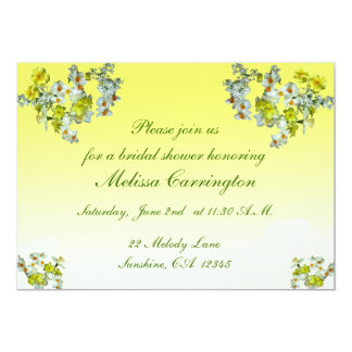 Yellow Floral Bridal Shower Card