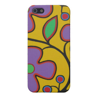 Yellow Floral Case For iPhone 5