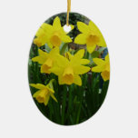 Yellow Floral Christmas Ornaments