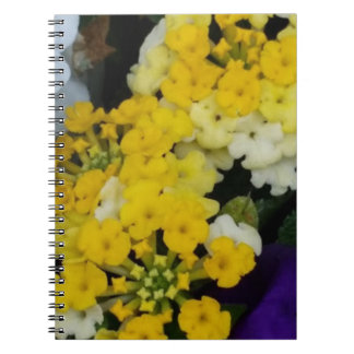 Yellow Floral Clusters Notebook (80 Pages B&W)