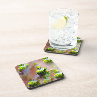 Yellow Floral Cork Coaster